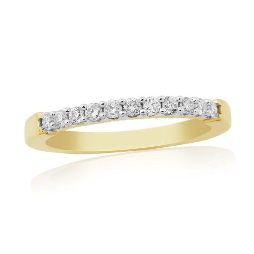 Yellow Gold Diamond | Eternity Ring | DR1310